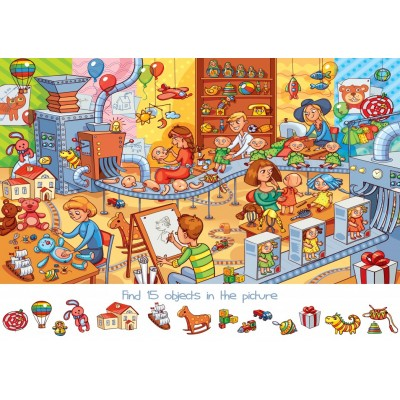 Bluebird-Puzzle - 150 Teile - Search and Find - The Toy Factory