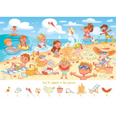 Bluebird-Puzzle - 100 pieces - Search and Find - The Beach