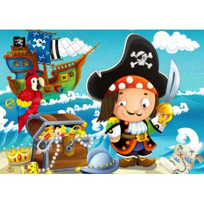 Bluebird-Puzzle - 48 pieces - The Treasure of the Pirate