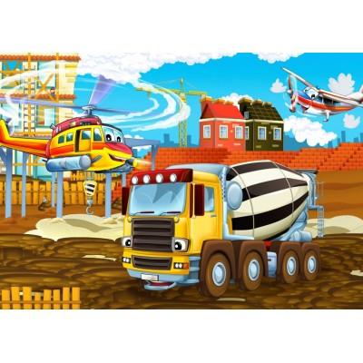 Bluebird-Puzzle - 48 pièces - On the Construction Site