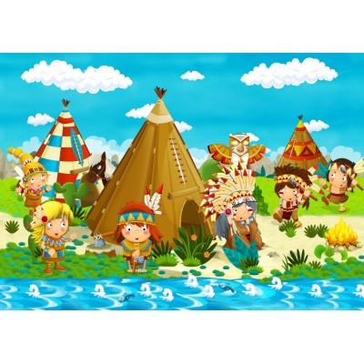 Bluebird-Puzzle - 48 Teile - Small Indian Tribe