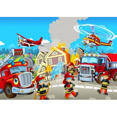 Bluebird-Puzzle - 48 Teile - Fire Rescue Team