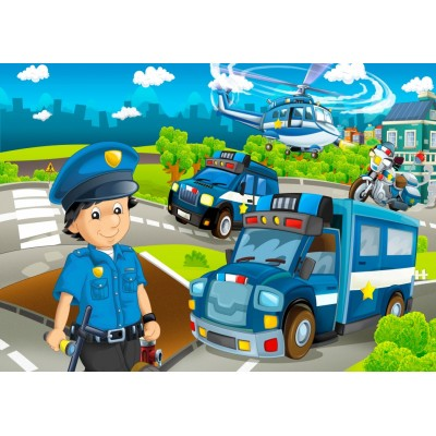 Bluebird-Puzzle - 48 pieces - Police Rescue Team