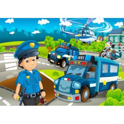 Bluebird-Puzzle - 48 Teile - Police Rescue Team