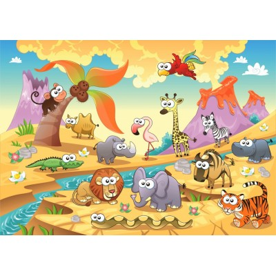 Bluebird-Puzzle - 48 pièces - Savannah Animals