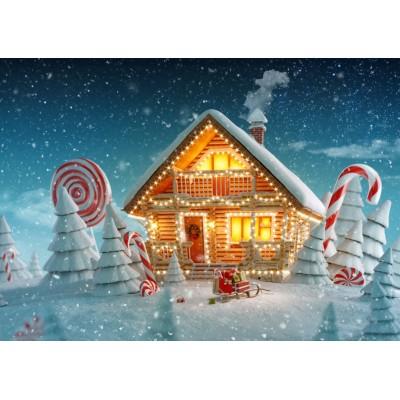 Bluebird-Puzzle - 500 Teile - Christmas Cottage