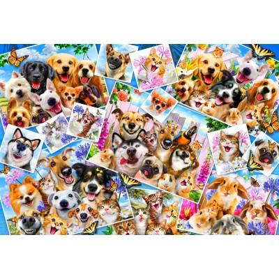 Bluebird-Puzzle - 260 pieces - Selfie Pet Collage