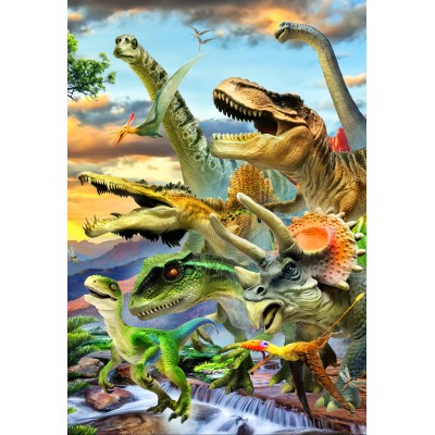 Bluebird-Puzzle - 260 pieces - Dino Sunset
