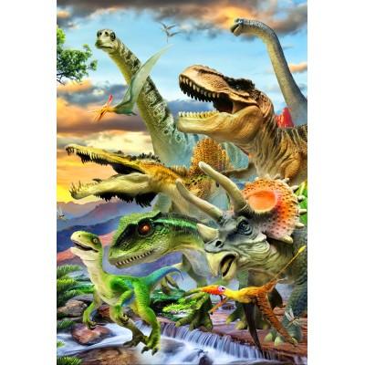 Bluebird-Puzzle - 260 Teile - Dino Sunset