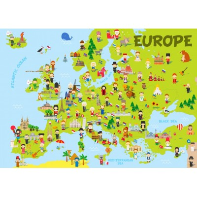 Bluebird-Puzzle - 150 pieces - Europe