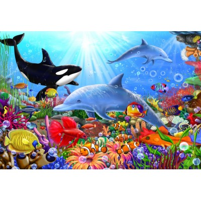 Bluebird-Puzzle - 260 pieces - Bright Undersea World