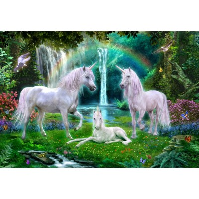 Bluebird-Puzzle - 260 Teile - Rainbow Unicorn Family