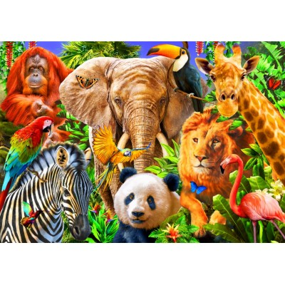 Bluebird-Puzzle - 150 Teile - Animals for kids