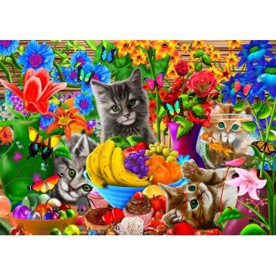 Bluebird-Puzzle - 100 pieces - Kitten Fun