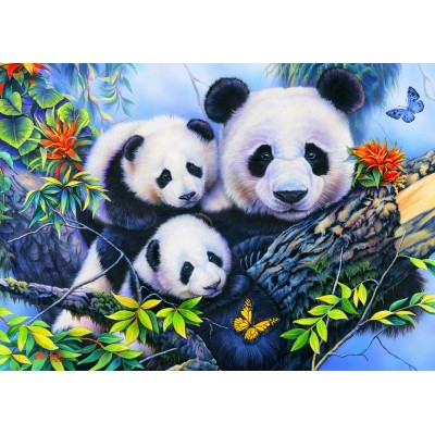 Bluebird-Puzzle - 100 Teile - Panda Family