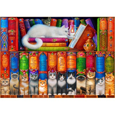 Bluebird-Puzzle - 150 pieces - Cat Bookshelf