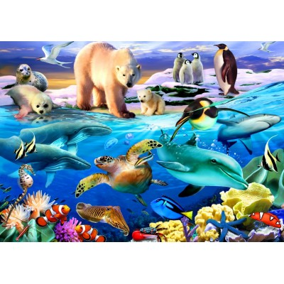 Bluebird-Puzzle - 150 pieces - Oceans of Life