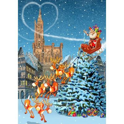 Bluebird-Puzzle - 100 pièces - Cathédrale de Strasbourg à Noël