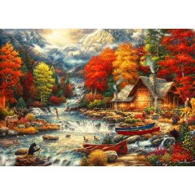 Bluebird-Puzzle - 1000 pieces - Treasures of the Great Outdoors