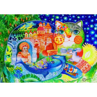 Bluebird-Puzzle - 1500 Teile - Russian Tale