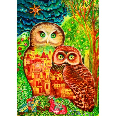 Bluebird-Puzzle - 1000 pieces - Owls