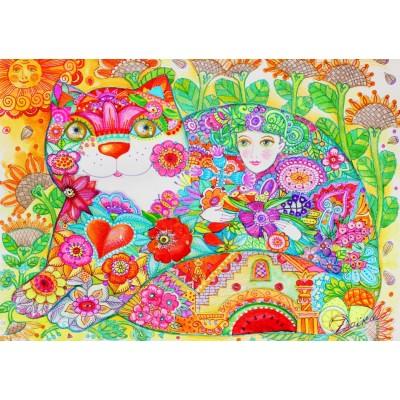 Bluebird-Puzzle - 1000 Teile - Flowers
