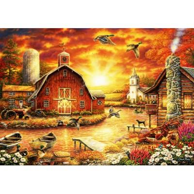Bluebird-Puzzle - 2000 Teile - Honey Drip Farm