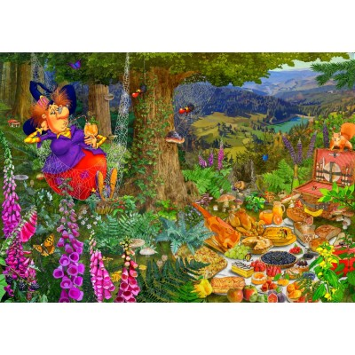 Bluebird-Puzzle - 1500 pièces - The Witch Picnic