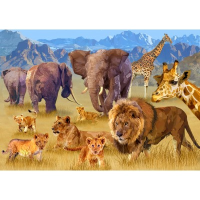 Bluebird-Puzzle - 1500 pieces - Savannah Animals