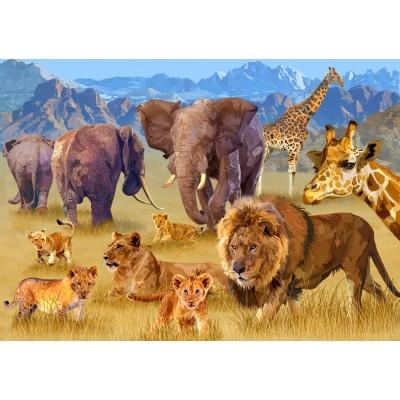 Bluebird-Puzzle - 1500 pièces - Savannah Animals