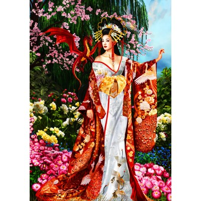 Bluebird-Puzzle - 1000 pieces - Sekkerastoya Queen of Silk