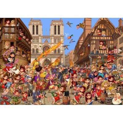Bluebird-Puzzle - 2000 Teile - La Cour des Miracles!