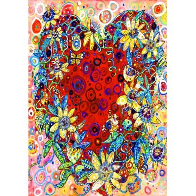 Bluebird-Puzzle - 1500 pieces - Passion Flower