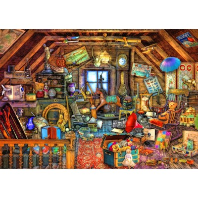 Bluebird-Puzzle - 1500 Teile - Hidden Object Attic