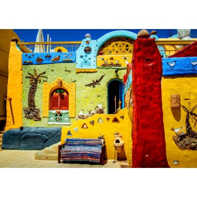 Bluebird-Puzzle - 1500 Teile - Colorful African Village