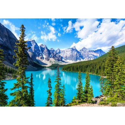 Bluebird-Puzzle - 1500 pieces - Moraine Lake in Banff National Park