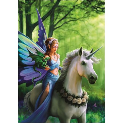 Bluebird-Puzzle - 1500 pieces - Anne Stokes - Real of Enchantment