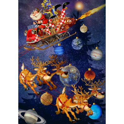 Bluebird-Puzzle - 1500 Teile - Santa Claus is arriving!