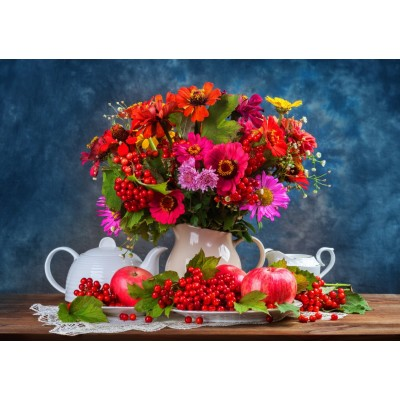 Bluebird-Puzzle - 1500 pieces - Autumn Bouquet