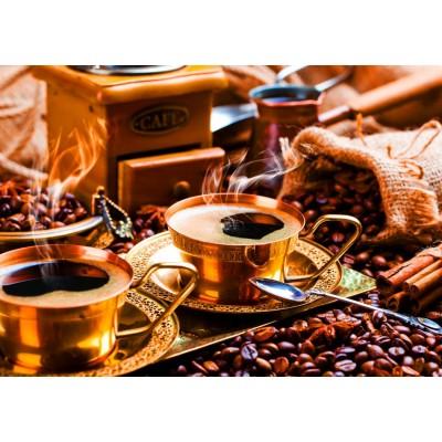 Bluebird-Puzzle - 1000 pieces - Black Coffee in Oriental Style