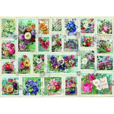 Bluebird-Puzzle - 2000 Teile - Stamp Flower Collection
