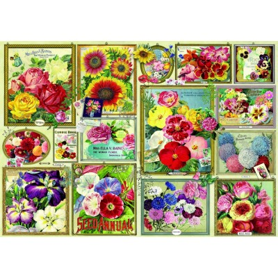 Bluebird-Puzzle - 1500 Teile - Flower Pictures