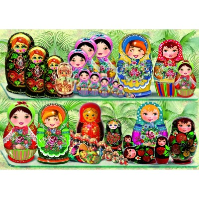 Bluebird-Puzzle - 1000 pieces - Matryoshka Dolls