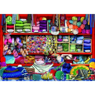 Bluebird-Puzzle - 1000 Teile - Wool Shelf