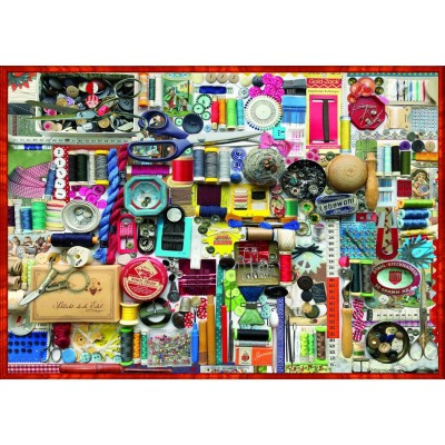 Bluebird-Puzzle - 1000 Teile - Sewing Kit