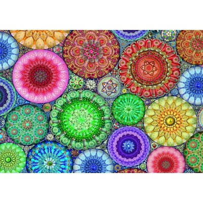 Bluebird-Puzzle - 1000 Teile - Rose Window