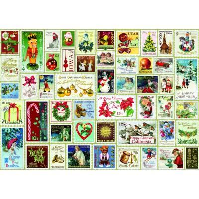 Bluebird-Puzzle - 1000 pièces - Christmas Stamps