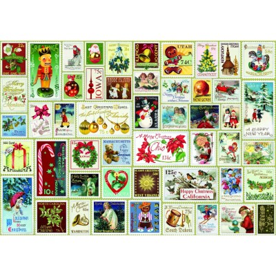 Bluebird-Puzzle - 1000 Teile - Christmas Stamps