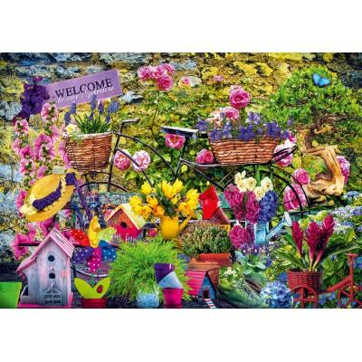 Bluebird-Puzzle - 1000 pieces - Welcome to Our Garden