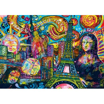 Bluebird-Puzzle - 1000 Teile - Iconic Travel